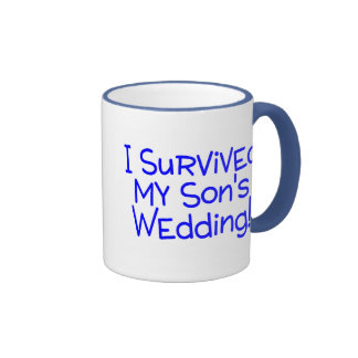 I Survived My Sons Wedding (Blue) Mug