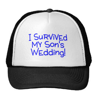 I Survived My Sons Wedding Blue Trucker Hat