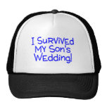 I Survived My Sons Wedding Blue Trucker Hats
