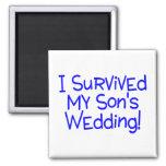 I Survived My Sons Wedding Fridge Magnets