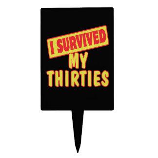 I SURVIVED MY THIRTIES CAKE PICKS