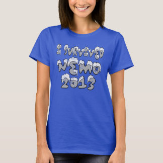 I Survived Nemo Blizzard of 2013 distressed Tshirt