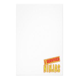 I SURVIVED NINJAS STATIONERY