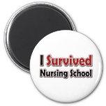 I Survived Nursing School 2 Inch Round Magnet