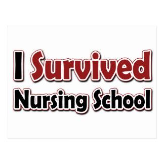 I Survived Nursing School Postcard