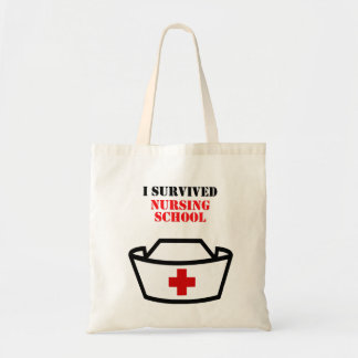 I survived Nursing school Tote Bag