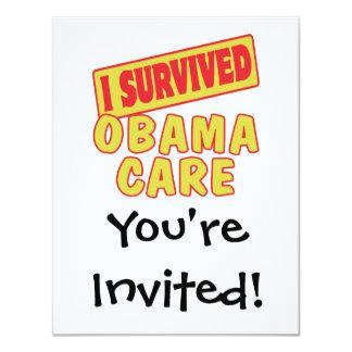 "I SURVIVED OBAMACARE 4.25"" X 5.5"" INVITATION CARD"