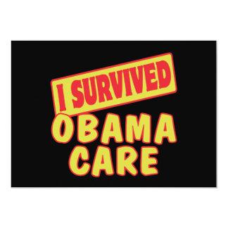 "I SURVIVED OBAMACARE 5"" X 7"" INVITATION CARD"