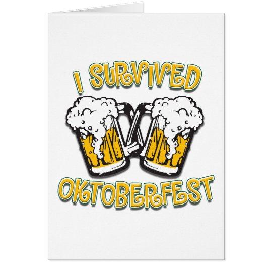 I Survived Oktoberfest Card