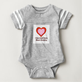 I Survived Open Heart Surgery2 Baby Bodysuit