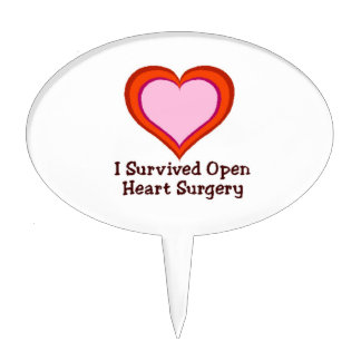 I Survived Open Heart Surgery2 Cake Topper