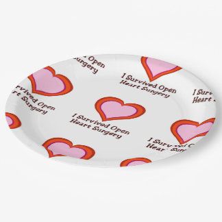 I Survived Open Heart Surgery2 9 Inch Paper Plate