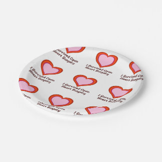 I Survived Open Heart Surgery2 7 Inch Paper Plate