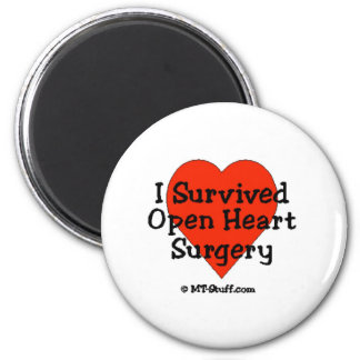 I Survived Open Heart Surgery 2 Inch Round Magnet