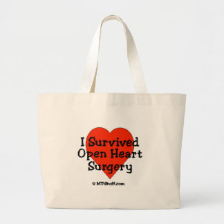 I Survived Open Heart Surgery Tote Bags