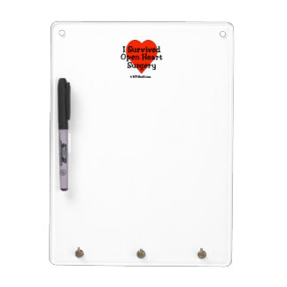 I Survived Open Heart Surgery Dry-Erase Board