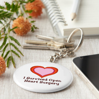 I Survived Open Heart Surgery Keychain
