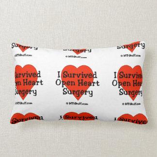I Survived Open Heart Surgery Lumbar Pillow