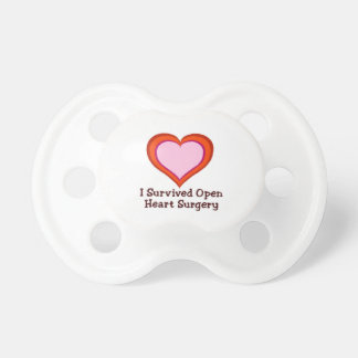 I Survived Open Heart Surgery Pacifier