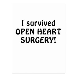 I Survived Open Heart Surgery Postcard