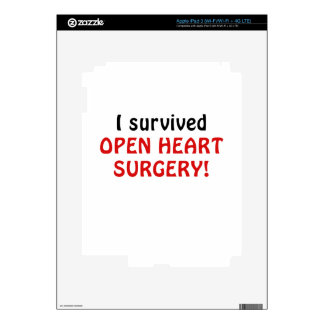 I Survived Open Heart Surgery Skins For iPad 3