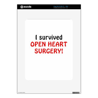 I Survived Open Heart Surgery Skins For The iPad