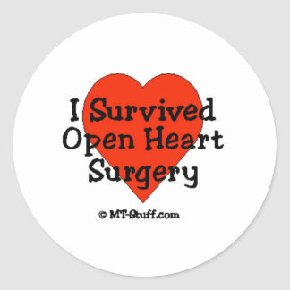 I Survived Open Heart Surgery Sticker