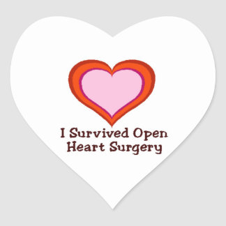 I Survived Open Heart Surgery Heart Stickers
