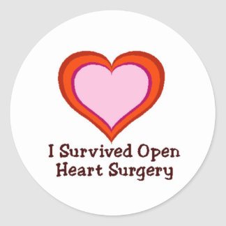 I Survived Open Heart Surgery Round Sticker