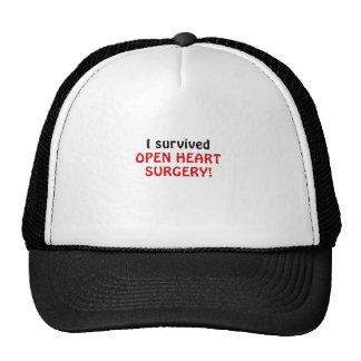 I Survived Open Heart Surgery Trucker Hat