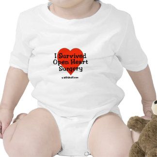 I Survived Open Heart Surgery Baby Bodysuits
