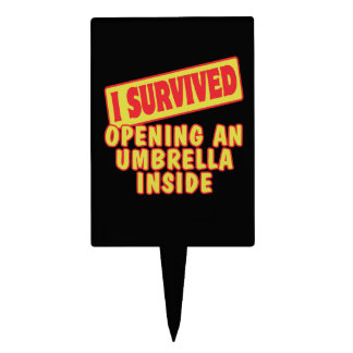 I SURVIVED OPENING UMBRELLA INSIDE CAKE PICKS