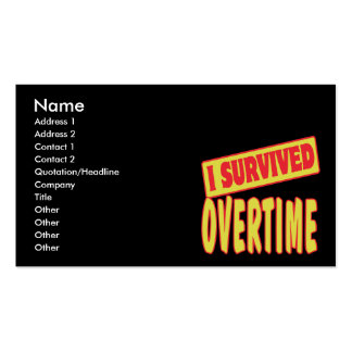 I SURVIVED OVERTIME Double-Sided STANDARD BUSINESS CARDS (Pack OF 100)