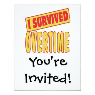 I SURVIVED OVERTIME 4.25X5.5 PAPER INVITATION CARD