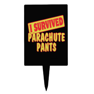 I SURVIVED PARACHUTE PANTS CAKE TOPPERS