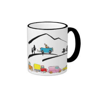 I survived PARKING on LOOKOUT MOUNTAIN Ringer Coffee Mug