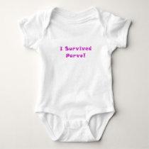I Survived Parvo Baby Bodysuit