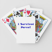 I Survived Parvo Bicycle Playing Cards