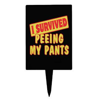 I SURVIVED PEEING MY PANTS CAKE PICK