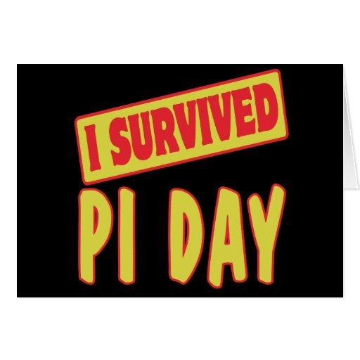 I SURVIVED PI DAY CARDS