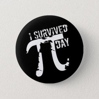 I Survived Pi Day - Funky Pi Symbol - Funny Pi Day Pinback Button