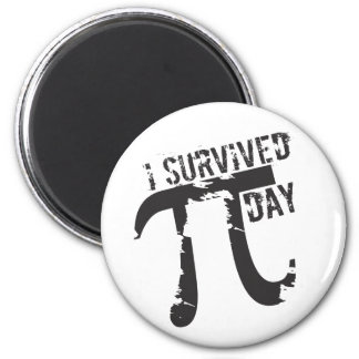 I Survived Pi Day - Funny Pi Day 2 Inch Round Magnet
