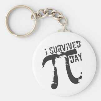 I Survived Pi Day - Funny Pi Day Basic Round Button Keychain