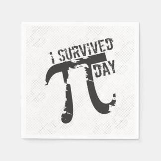 I Survived Pi Day - Funny Pi Day Napkin
