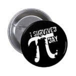 I Survived Pi Day - Funny Pi Day Pins