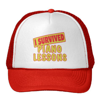 I SURVIVED PIANO LESSONS TRUCKER HAT