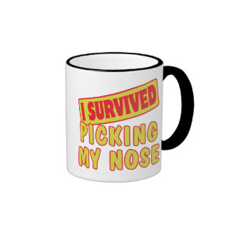 I SURVIVED PICKING MY NOSE COFFEE MUG