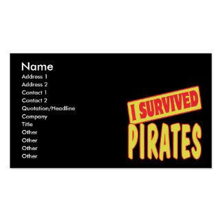 I SURVIVED PIRATES Double-Sided STANDARD BUSINESS CARDS (Pack OF 100)