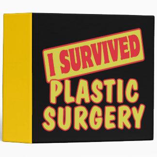 I SURVIVED PLASTIC SURGERY 3 RING BINDER