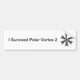 I Survived Polar Vortex 2 Bumper Sticker